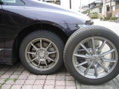 春の重労働、タイヤ交換 (雑記 )