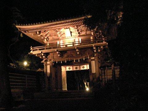 那谷寺のライトアップ (ι )