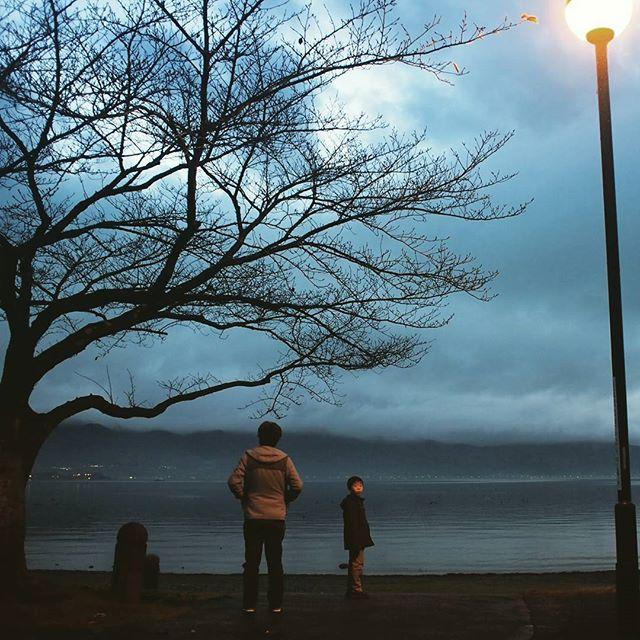 諏訪湖、きれいだったなあ。