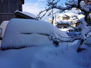 三年ぶりの床上積雪